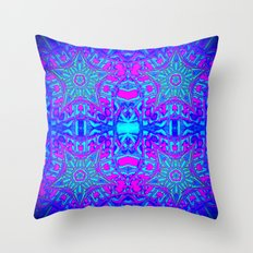 Bright Cool Stars Throw Pillow