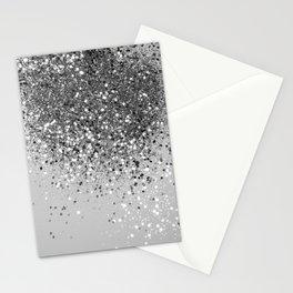 Soft Silver Gray Glitter #1 (Faux Glitter - Photography) #shiny #decor #art #society6 Stationery Cards