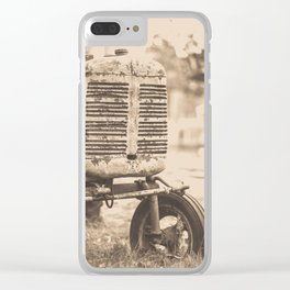 Old Vintage Tractor Woodstock Vermont Clear iPhone Case