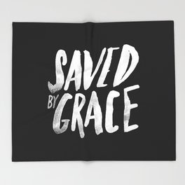 Saved by Grace II Throw Blanket