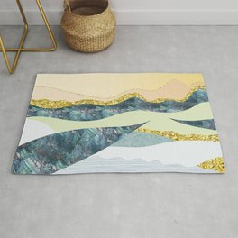 GRAPHIC ART Layers of soil and rock Rug