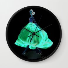 Red Fashion Watercolor Model Wall Clock