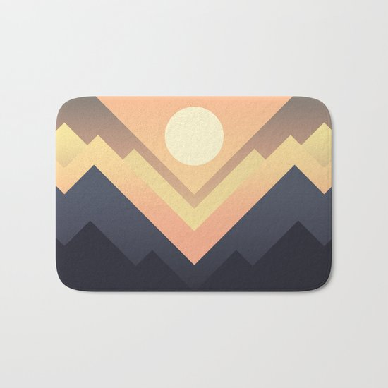 The Sun Rises Bath Mat