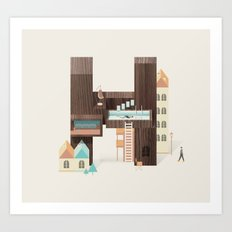 Resort Type - Letter H Art Print