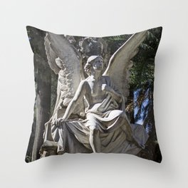 Angel Grave II Throw Pillow