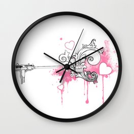 Uzi-ng Love Wall Clock