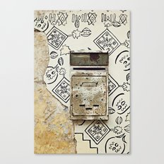 Mailbox and Mural Canvas Print