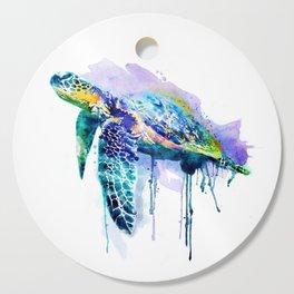 Watercolor Sea Turtle Cutting Board