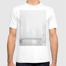 cloud chicago MEDIUM White Mens Fitted Tee