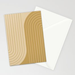 Two Tone Line Curvature XXXVIII Stationery Cards