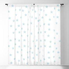 Baby blue stars seamless pattern Blackout Curtain