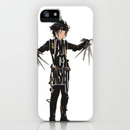 Edward Scissorhands - Johnny Depp iPhone Case