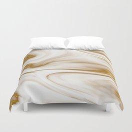 Gold Milky Swirl Marble Duvet Cover