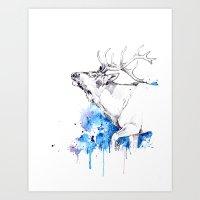 Elk's Whisper II Art Print