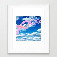 dna Framed Art Prints featuring DNA by REINE Mihtla
