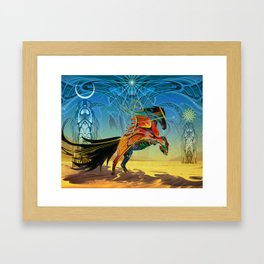 The Wind of Time (Red Horse) Framed Art Print