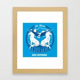La Siesta Encantada, Bien Reposado • The Best Tequila TShirt! Framed Art Print