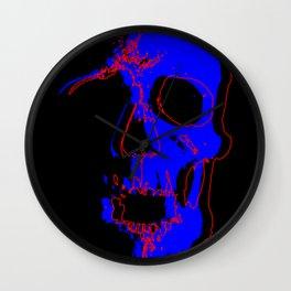 Skull - Blue Wall Clock