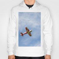 airplane Hoodies featuring Airplane by Fernando Derkoski