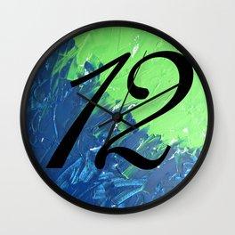 Blue & Green, 12, No. 1 Wall Clock