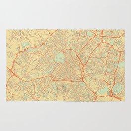 Lille Map Retro Rug