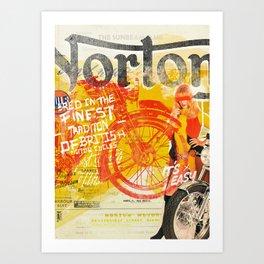 Norton British Motor Cycles Art Print