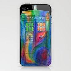 Tie Dye Tardis- Doctor Who iPhone & iPod Skin