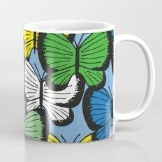 Green yellow blue butterflies Mug