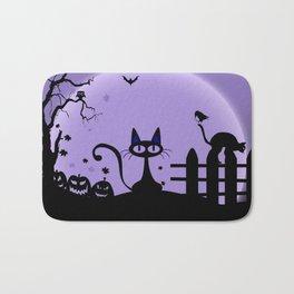 Cat Halloween-Nightmare Bath Mat
