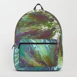 Abstract tie dye flower Backpack