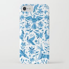 Mexican Otomí Design in Light Blue iPhone Case