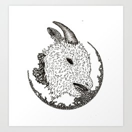 decapitated goat Art Print