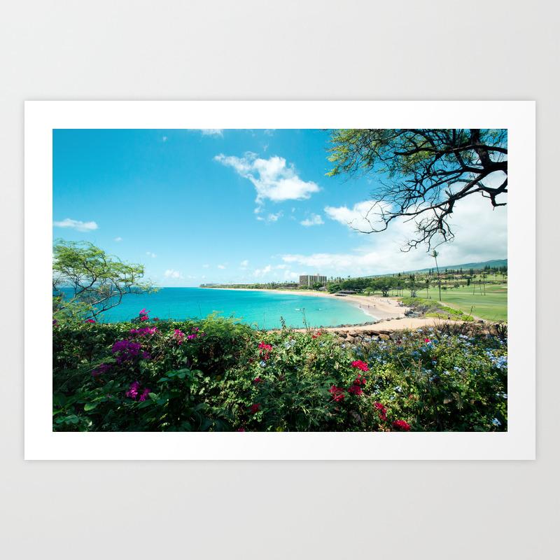 Kaʻanapali Beach Maui Hawaii Art Print