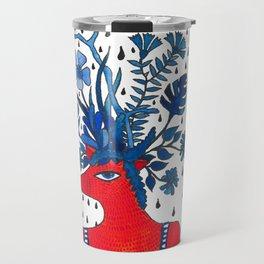 Flowery fox Travel Mug