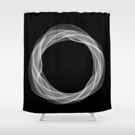 Black White Minimal Geometry Graphic Harmonic Abstract Line Shower Curtain