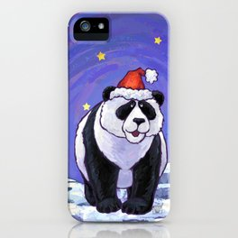 Panda Bear Christmas iPhone Case