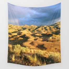 An intense rainbow in the painted hills Wall Tapestry