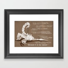 The scorpion Framed Art Print