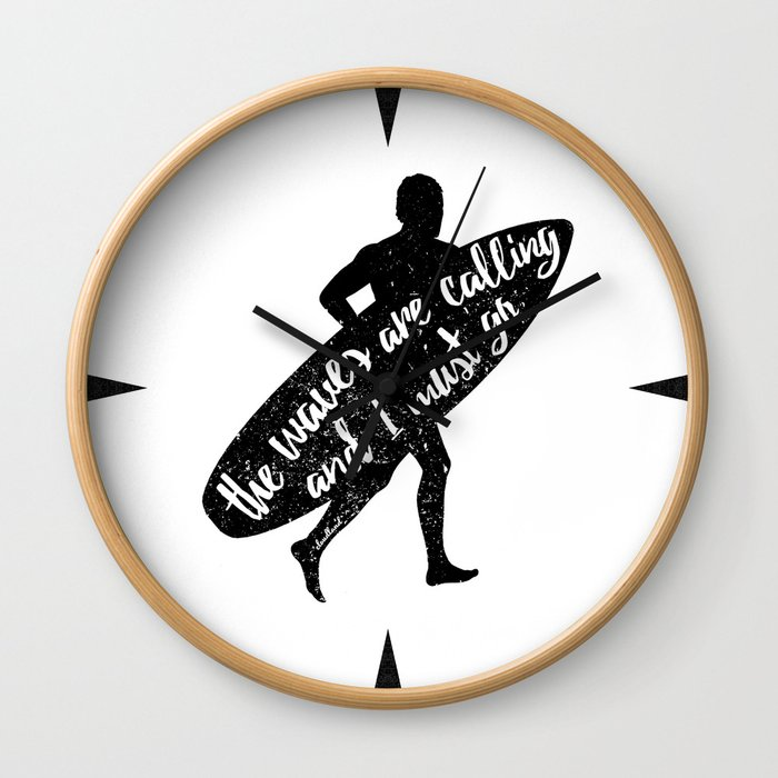 Waves are calling Wall Clock