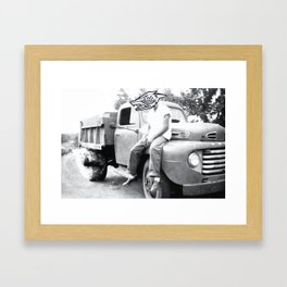 Here to Stay  Framed Art Print