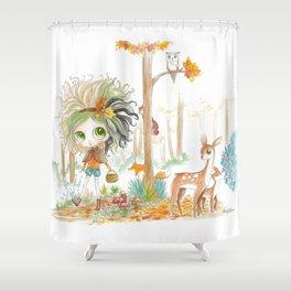 Nikki & Friends - Blythe Doll Inspiration Shower Curtain