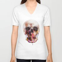 true blood V-neck T-shirts featuring True Blood B by beart24