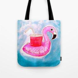 Flamingo Pool Party Tote Bag