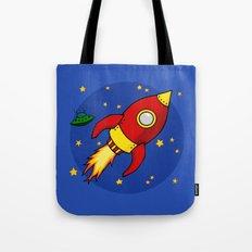 Space Rocket Tote Bag