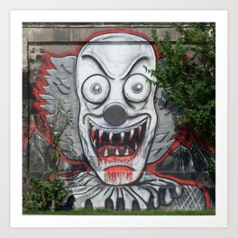 Creepy Clown Art Print