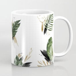 Tropical leaf & gold Coffee Mug