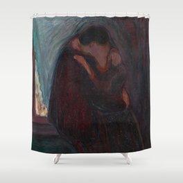 The Kiss - Edvard Munch Shower Curtain