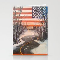 flag Stationery Cards featuring Flag by Boyce Cummings