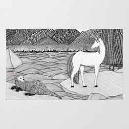 A Meeting by the Water--B&W Rug