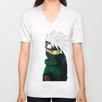 kakashi V-neck T-shirts featuring Great Talent by BradixArt